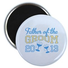 "Father Groom Champagne 2013 2.25"" Magnet (100 pack"
