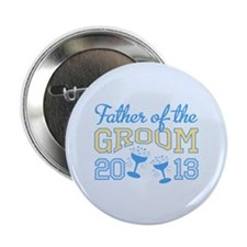 "Father Groom Champagne 2013 2.25"" Button (100 pack"
