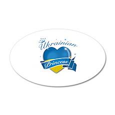 Ukrainian Princess 38.5 x 24.5 Oval Wall Peel