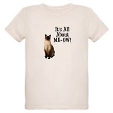 ME-OW Siamese Cat Organic Kids T-Shirt