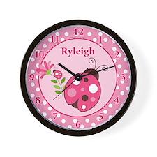 Ladybug Garden Wall Clock - Ryleigh