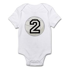 Volleyball Player Number 2 Infant Bodysuit