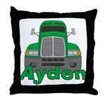 Trucker Ayden Throw Pillow