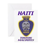 Haiti Tonton Macoutes Greeting Card