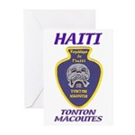 Haiti Tonton Macoutes Greeting Cards (Pk of 10)