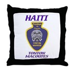 Haiti Tonton Macoutes Throw Pillow