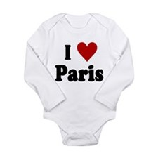 I Love Paris Long Sleeve Infant Bodysuit