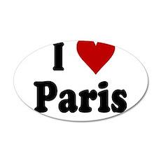 I Love Paris 38.5 x 24.5 Oval Wall Peel