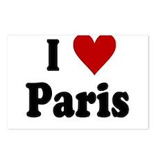 I Love Paris Postcards (Package of 8)