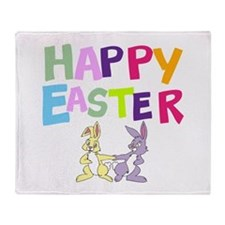 Cute Bunny Happy Easter 2012 Throw Blanket