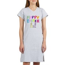 Cute Bunny Happy Easter 2012 Women's Nightshirt