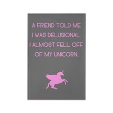 Delusional Unicorn Rectangle Magnet