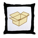 Cardboard box Throw Pillow