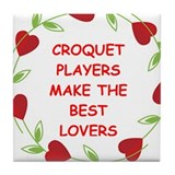 croquet Tile Coaster