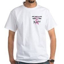 Kicking Ass Twice Breast Cancer Shirt