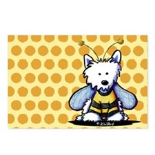 Buzzy Bee Westie Postcards (Package of 8)