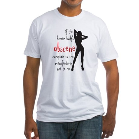 human body's obscene Fitted T-Shirt
