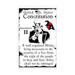 """""""2nd Amendment"""" Sticker (Rectangle)"""