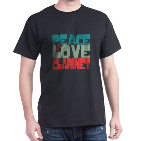Peace Love Clarinet Dark T-Shirt