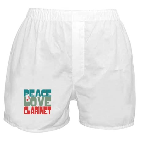 Peace Love Clarinet Boxer Shorts