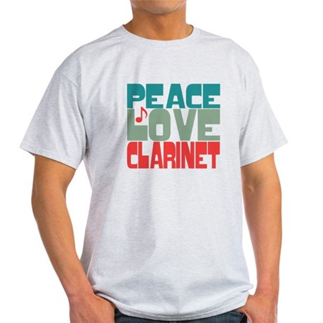 Peace Love Clarinet Light T-Shirt