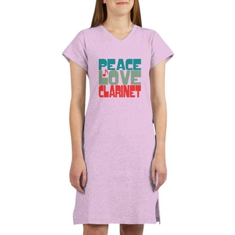 Peace Love Clarinet Women's Nightshirt