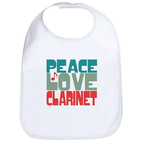 Peace Love Clarinet Bib