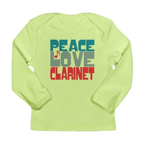 Peace Love Clarinet Long Sleeve Infant T-Shirt