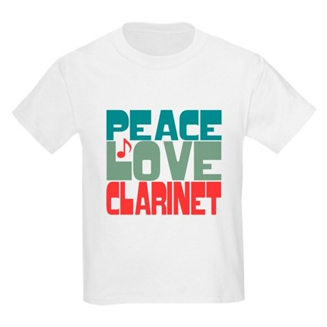 Peace Love Clarinet Kids Light T-Shirt