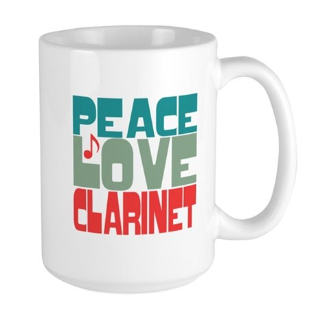 Peace Love Clarinet Large Mug