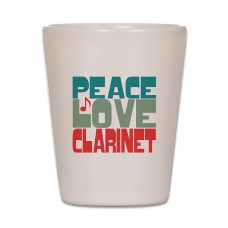 Peace Love Clarinet Shot Glass