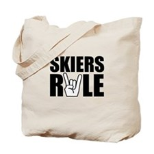 Skiers Rule Tote Bag