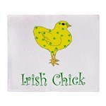 Irish Chick Throw Blanket