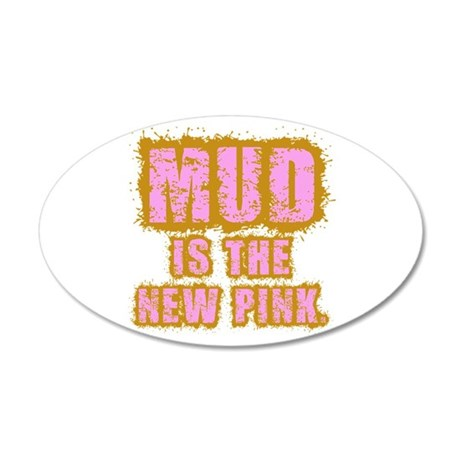 Mud, the new pink 38.5 x 24.5 Oval Wall Peel