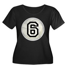 Volleyball Player Number 6 T