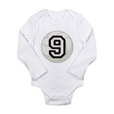 Volleyball Player Number 9 Long Sleeve Infant Body
