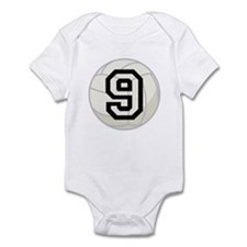 Volleyball Player Number 9 Infant Bodysuit