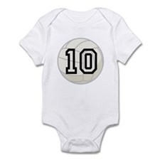 Volleyball Player Number 10 Infant Bodysuit