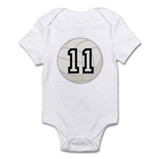Volleyball Player Number 11 Infant Bodysuit