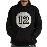 Volleyball Player Number 12 Hoodie