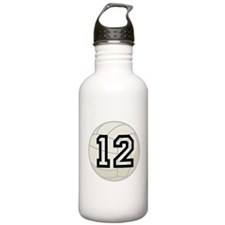 Volleyball Player Number 12 Sports Water Bottle
