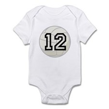Volleyball Player Number 12 Infant Bodysuit