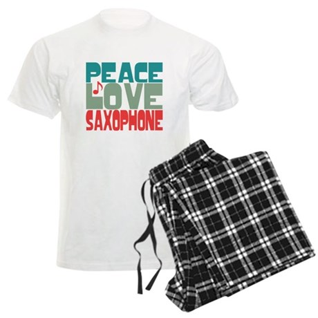 Peace Love Saxophone Men's Light Pajamas