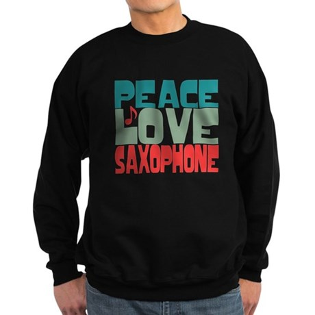 Peace Love Saxophone Sweatshirt (dark)