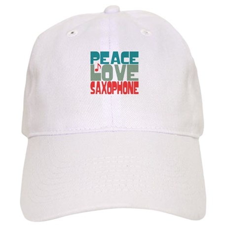 Peace Love Saxophone Cap