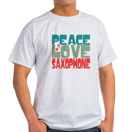 Peace Love Saxophone Light T-Shirt