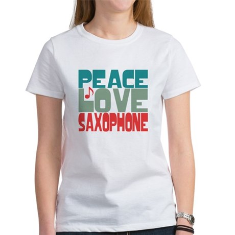 Peace Love Saxophone Women's T-Shirt