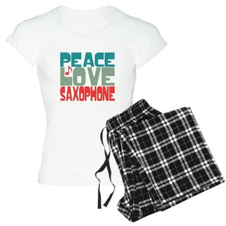 Peace Love Saxophone Women's Light Pajamas