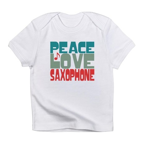 Peace Love Saxophone Infant T-Shirt