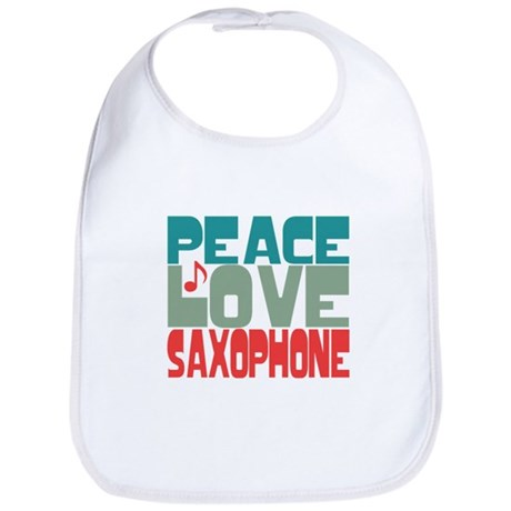 Peace Love Saxophone Bib